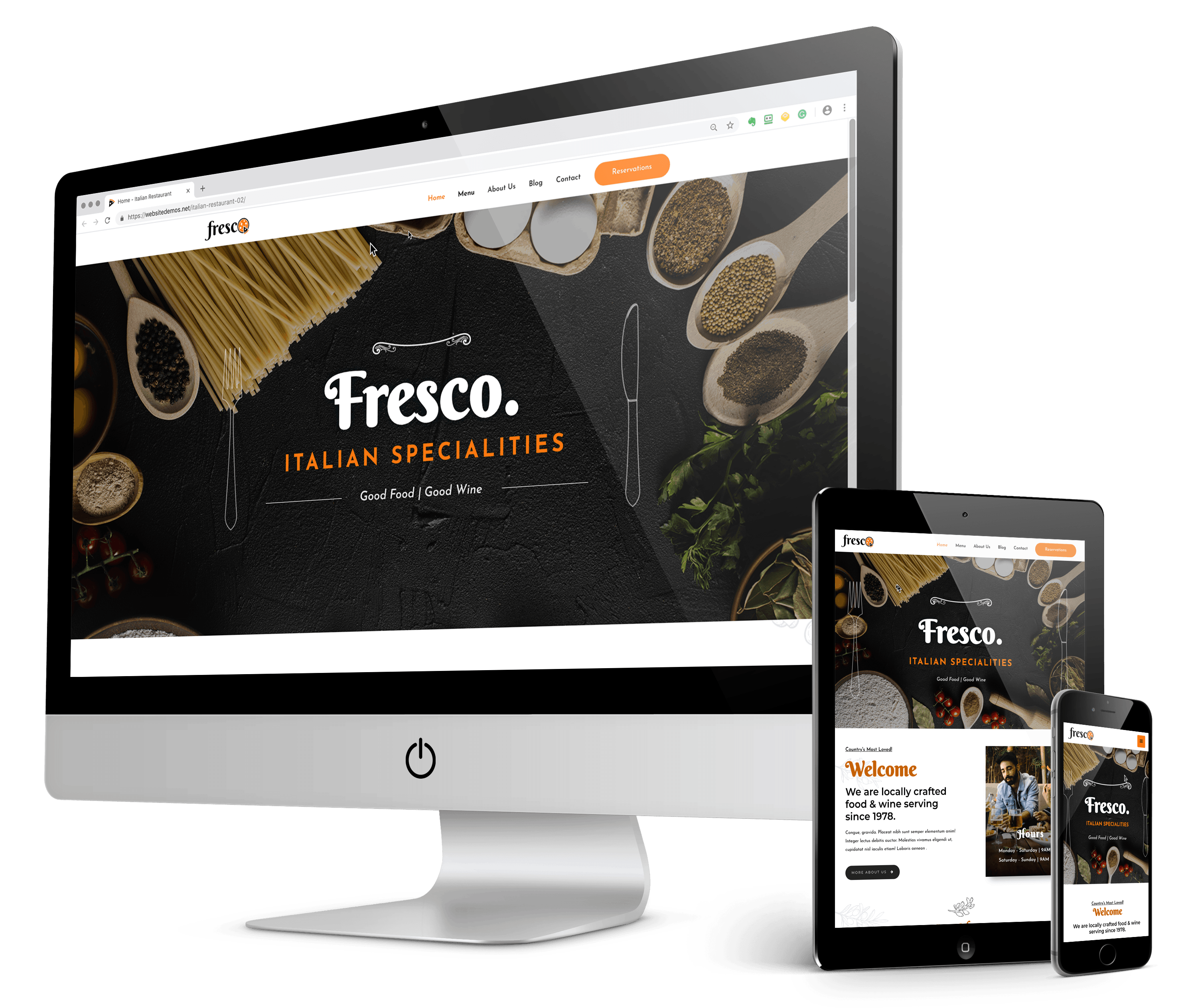 local restaurant web design